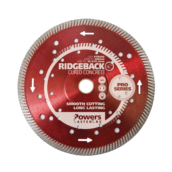 turbo rim concrete cutting blades