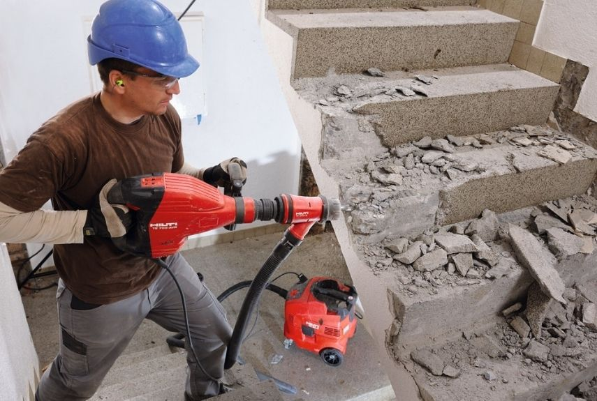 demolition types of concrete drill
