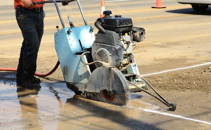 wet cutting concrete process